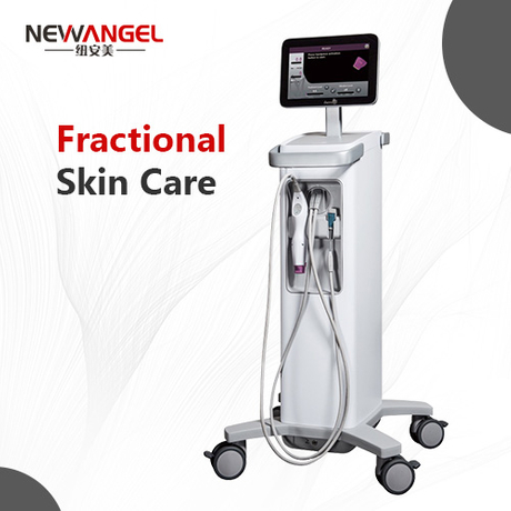 Fractional radio frequency machine for skin lifting