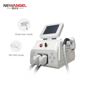 Diode laser hair removal machine q switched nd yag treatment system 2 in 1