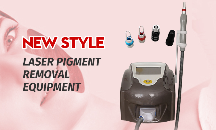 Black dark skin removal tattoo machine laser pigment removal