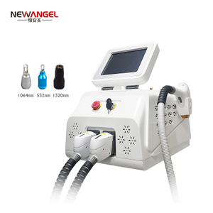 ND yag tattoo removal machine q switch powerful 532 1064 1320nm 2 in 1 Diode nd yag laser hair removal treatment system