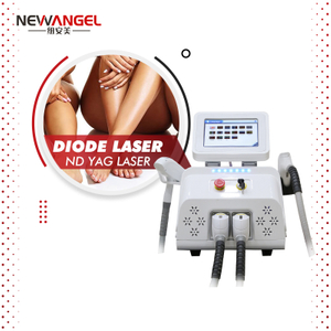 2 in 1 Ndyag Laser Tattoo Removal Permanent Diode Laser Hair Removal Beauty Machine Newest Painless for Salon