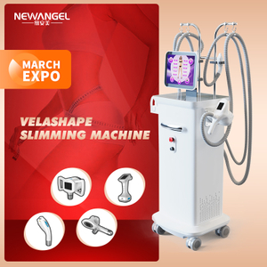 Vela Shape Body Slimming Fat Remove Rf Cavitation Vacuum Beauty Machine Newest Salon Use 4 Heads Available