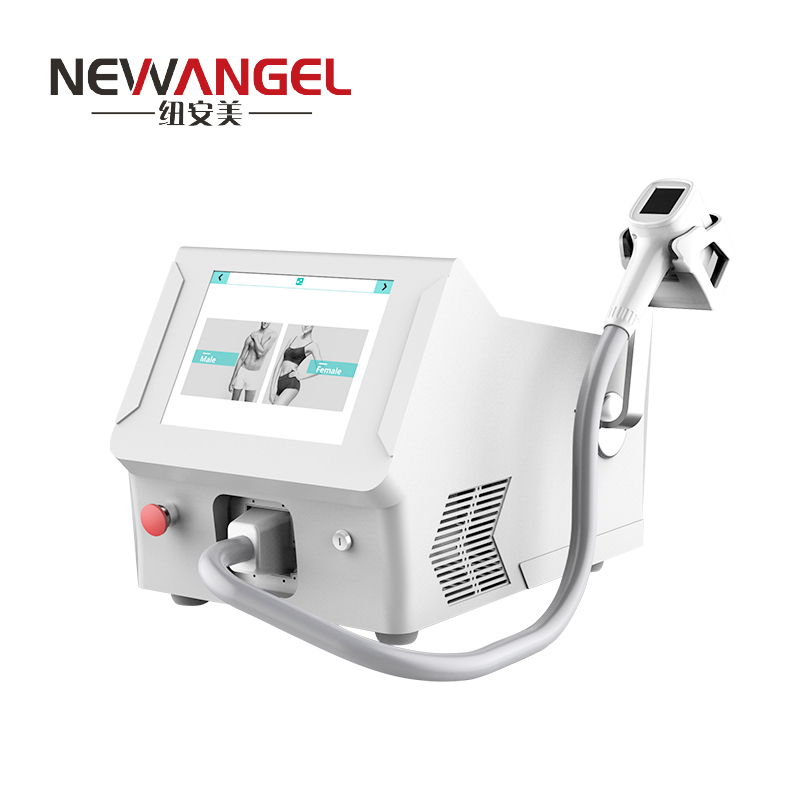 The newest laser hair removal machine with screen on handle