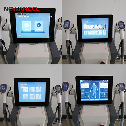 2 handles working simultaneously hair removal laser machine price