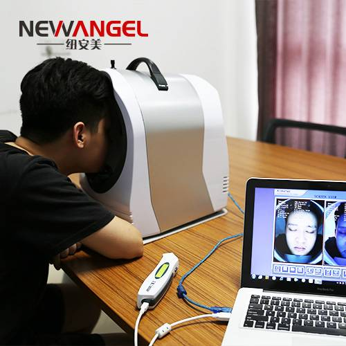 Professional face skin analysis machine with UV+RGB+PL light