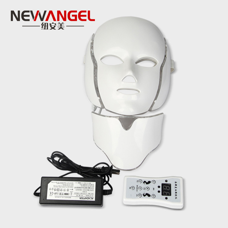 New 7 color led therapy mask for face and nack