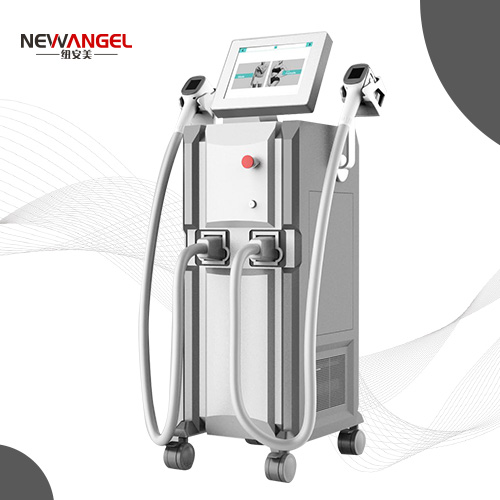 World best laser hair removal machine with 2 handles